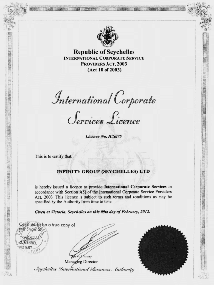 Infinity Group License